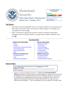 Homeland Security Daily Open Source Infrastructure Report for 21 January 2011