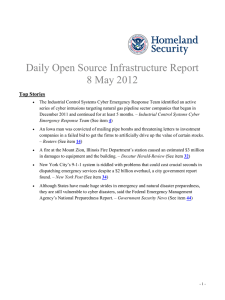Daily Open Source Infrastructure Report 8 May 2012 Top Stories