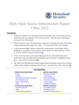 Daily Open Source Infrastructure Report 3 May 2012 Top Stories
