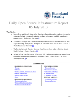 Daily Open Source Infrastructure Report 05 July 2013 Top Stories