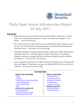 Daily Open Source Infrastructure Report 03 July 2013 Top Stories