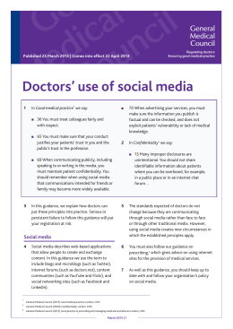 Doctors' use of social media