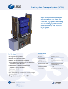 Stacking Over Conveyor System (SOCS)