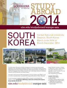 2014 SoUtH Korea sTudy
