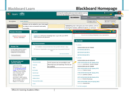 Blackboard Homepage Blackboard Learn