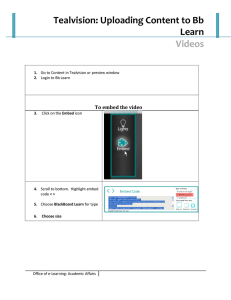 Tealvision: Uploading Content to Bb Learn  Videos