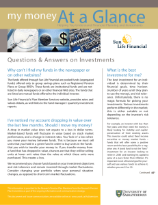 At a Glance my money Questions & Answers on Investments