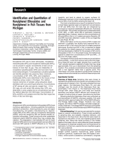 Research Identification and Quantitation of Nonylphenol Ethoxylates and