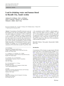 Lead in drinking water and human blood ORIGINAL PAPER