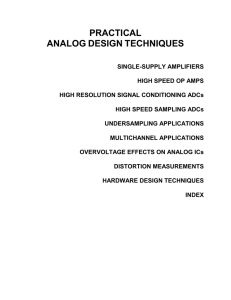 PRACTICAL  ANALOG DESIGN
