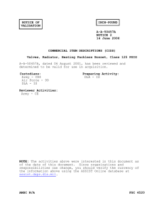 NOTICE OF INCH-POUND VALIDATION A-A-50457A