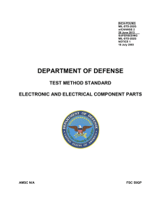 DEPARTMENT OF DEFENSE TEST METHOD STANDARD ELECTRONIC AND ELECTRICAL COMPONENT PARTS