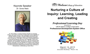 Nurturing a Culture of Inquiry: Learning, Leading and Creating