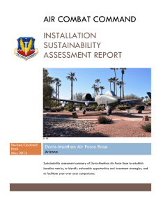 AIR COMBAT COMMAND INSTALLATION SUSTAINABILITY
