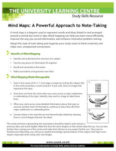 Mind Maps: A Powerful Approach to Note-Taking Study Skills Resource