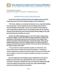 BuildLACCD Wins 2015 Leadership Award
