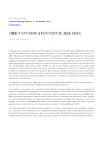 CREDIT RATIONING FOR PORTUGUESE SMES  Executive summary