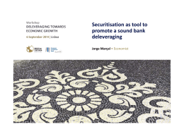 Securitisation as tool to  promote a sound bank  d l i