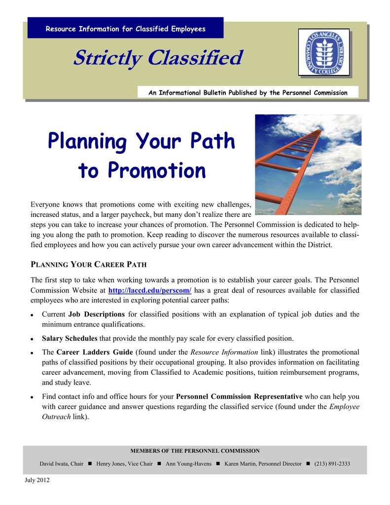 Strictly Classified Planning Your Path to Promotion