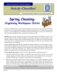 Strictly Classified  Spring Cleaning: Organizing Workspace Clutter