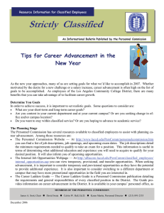 Strictly  Classified  Tips for Career Advancement in the New Year