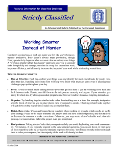 Strictly Classified  Working Smarter Instead of Harder