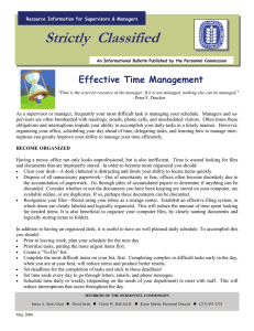 Strictly  Classified  Effective Time Management