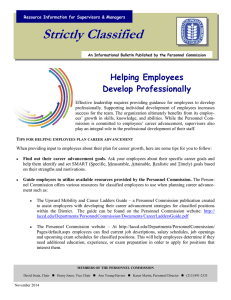 Strictly Classified  Helping Employees Develop Professionally