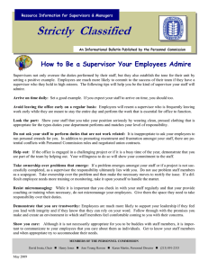 Strictly  Classified  How to Be a Supervisor Your Employees Admire