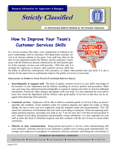 Strictly Classified  How to Improve Your Team's Customer Services Skills