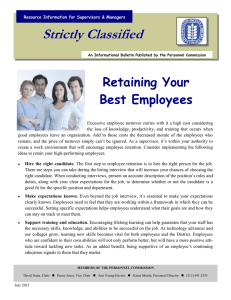Strictly Classified  Retaining Your Best Employees