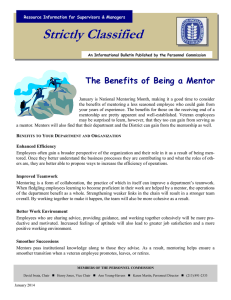 Strictly Classified  The Benefits of Being a Mentor