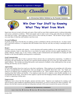 Strictly  Classified  Win Over Your Staff by Knowing