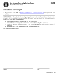 C341B Los Angeles Community College District  Educational Travel Report