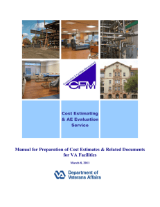 Manual for Preparation of Cost Estimates & Related Documents Cost Estimating