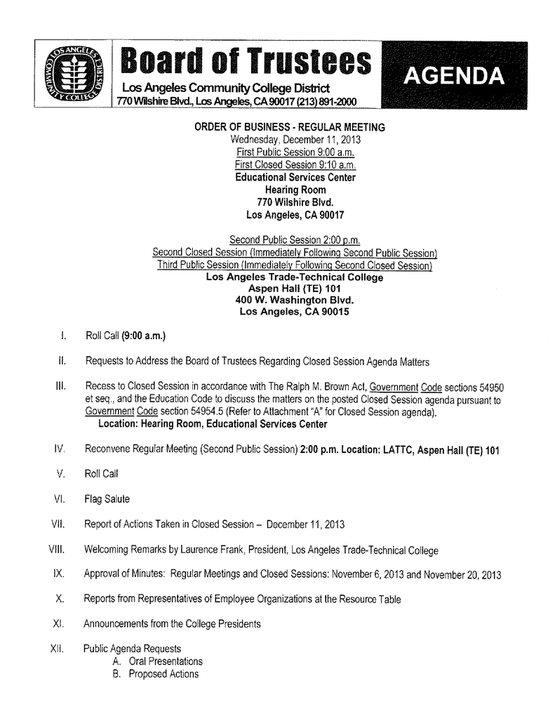 Agenda los angeles community college district fandeluxe Images