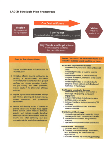 ^^^>SP?8l^^t3S^^^^^^^^o^ LACCD Strategic Plan Framework Key Trends and Implications
