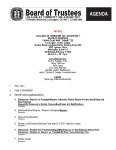 REVISED LOS ANGELES COMMUNITY COLLEGE DISTRICT BOARD OF TRUSTEES FINANCE AND AUDIT COMMITTEE