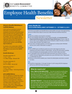 Employee Health Benefits Newsletter J