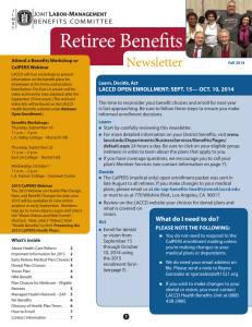 Retiree Benefits  Newsletter