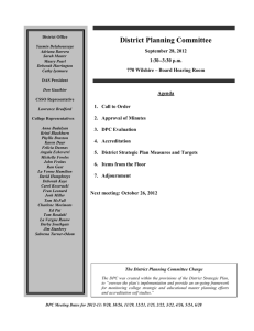 District Planning Committee  September 28, 2012 1:30--3:30 p.m.