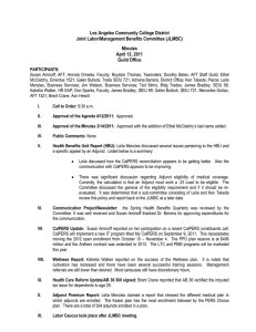 Los Angeles Community College District Joint Labor/Management Benefits Committee (JLMBC) Minutes