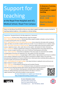 Support for teaching at the Royal Free Hospital and UCL