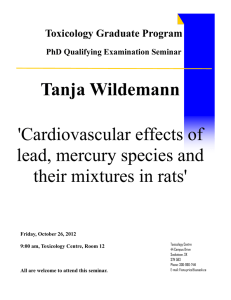 Tanja Wildemann  'Cardiovascular effects of lead, mercury species and