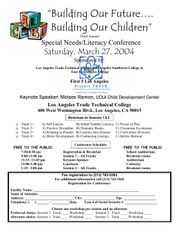 """Building Our Future…. Building Our Children"" Saturday, March 27, 2004 Special Needs/Literacy Conference"