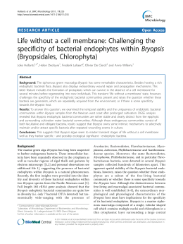 Life without a cell membrane: Challenging the (Bryopsidales, Chlorophyta)