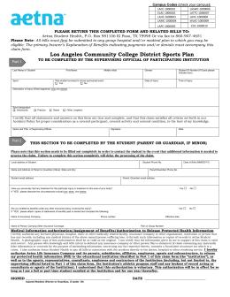 Aetna HMO Primary Care Physician Designation Form