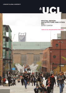 SPATIAL DESIGN: ARCHITECTURE AND CITIES MSc /
