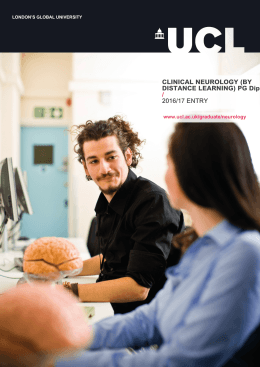 CLINICAL NEUROLOGY (BY DISTANCE LEARNING) PG Dip / 2016/17 ENTRY