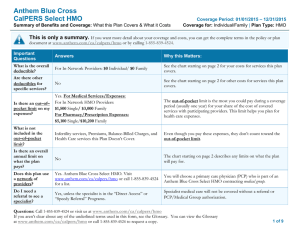Anthem Blue Cross CalPERS Select HMO
